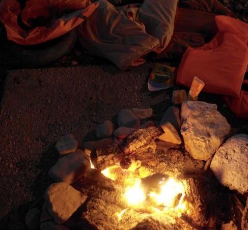 """Stützpunkt """"Campfire,"""" Lesbos"""