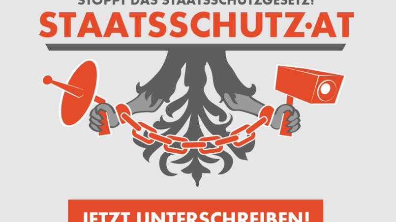 Stoppt das Staatsschutzgesetz - jetzt unterschreiben!