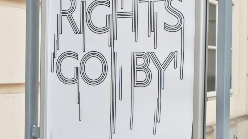 AS RIGHTS GO BY POSTER