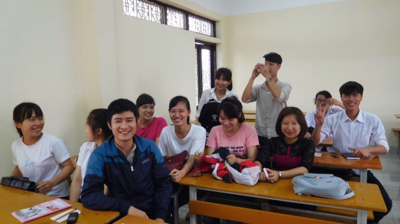 University for industry, Hanoi (HaUI), in a classroom