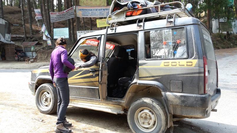 Mit dem Jeep von Kathmandu nach Salleri