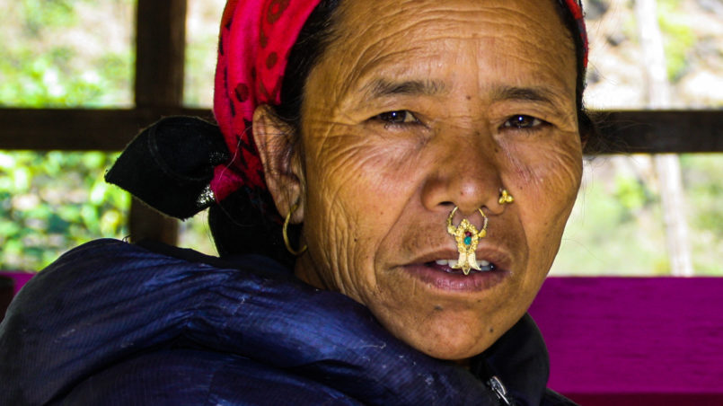 Nose piercings & septum piercings are very common in some hill tribes
