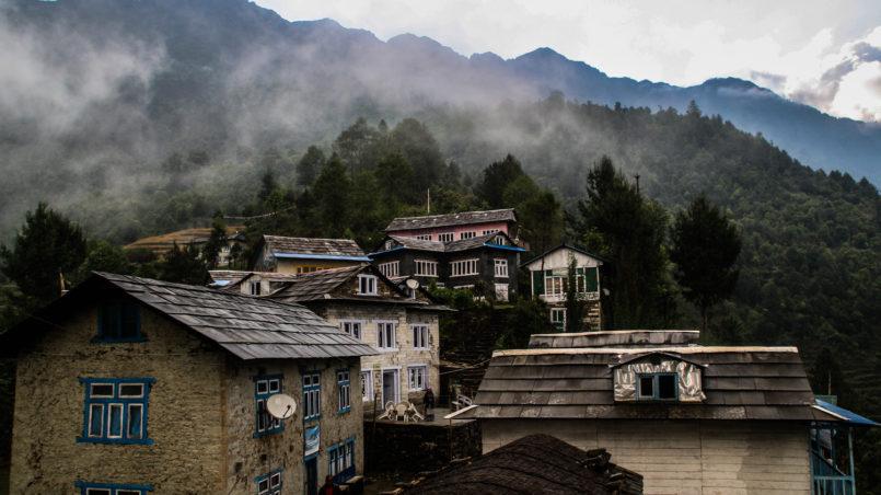 Village of Bupsa, morning view_
