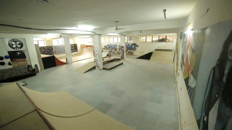 First indoor skate-park, the basement