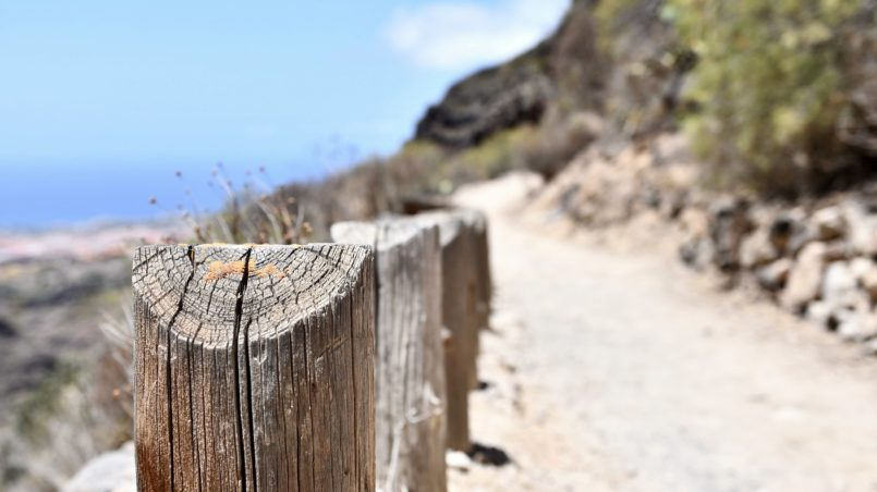 Teneriffa 2016 - Hiking route with a view to the sea