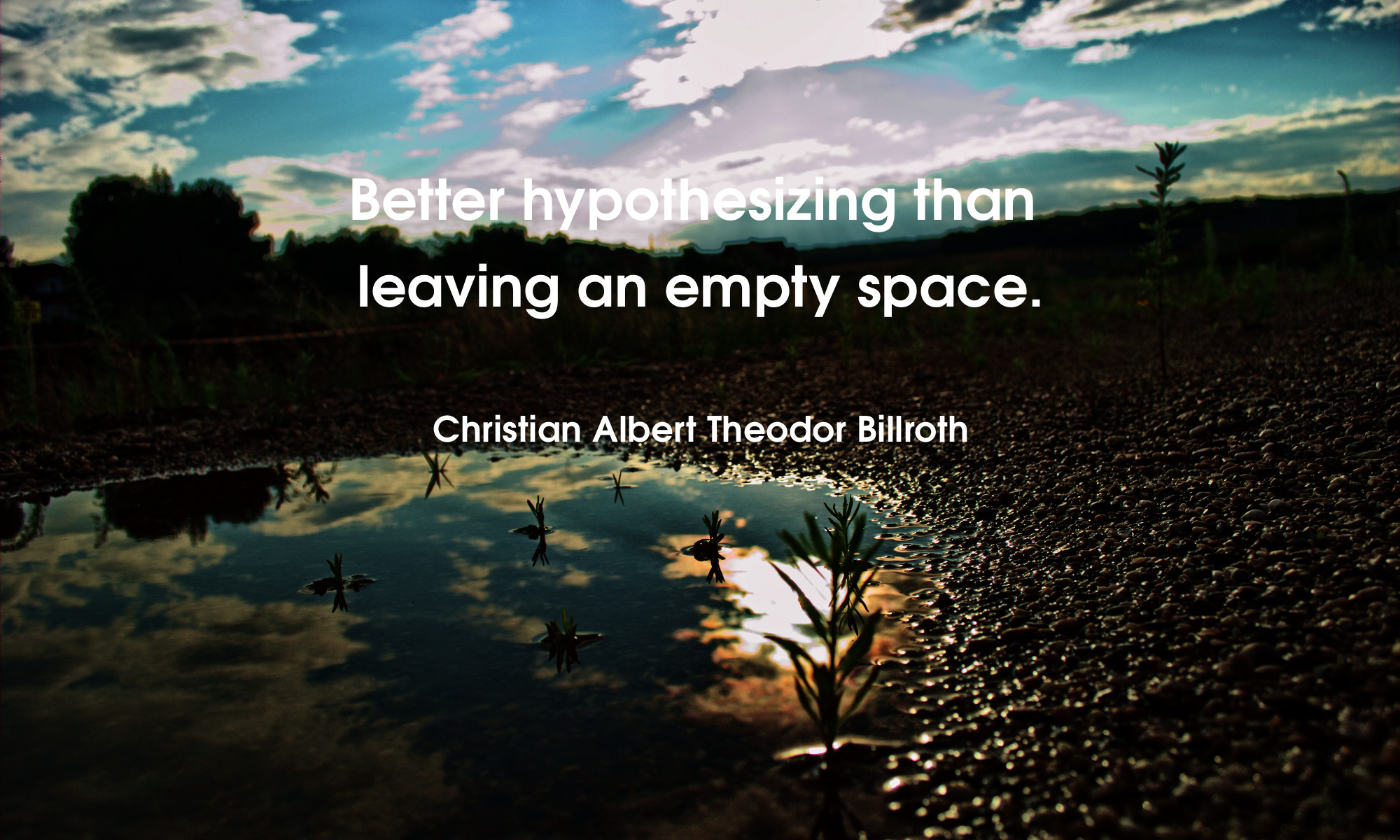 Better hypothesizing than leaving an empty space.