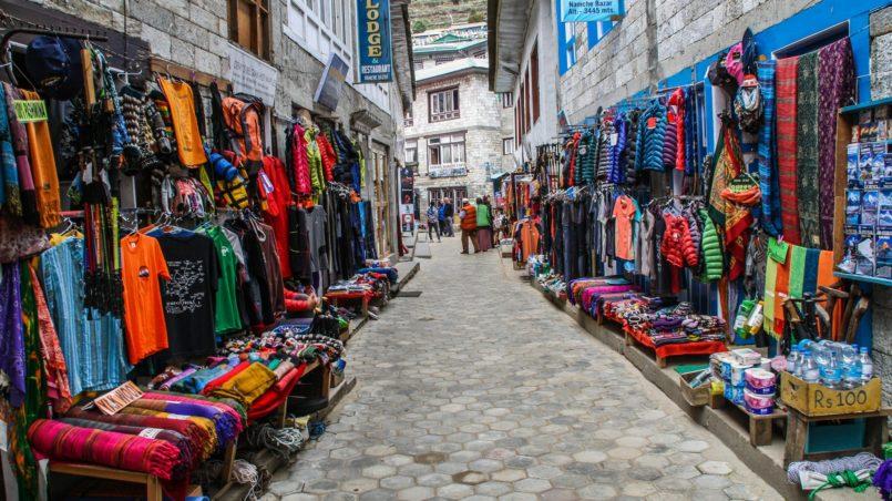 Namche Bazaar market