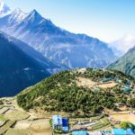 Namche Bazaar village from above 2