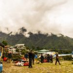 Helicopter departure from Lukla