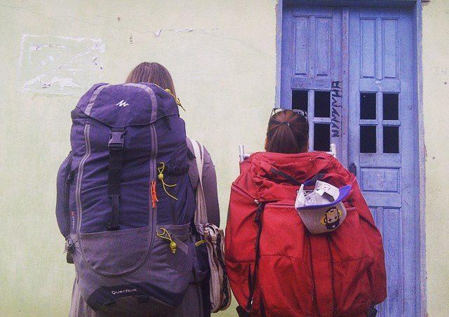 Eunji und ich während des Abschiednehmens