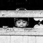 Curious nepalese child Lukla