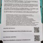 Petition - Wir fordern (Frei-)Raum
