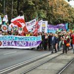 Demonstration gegen TTIP und gegen CETA