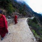Monks on their way to Namche Bazaar