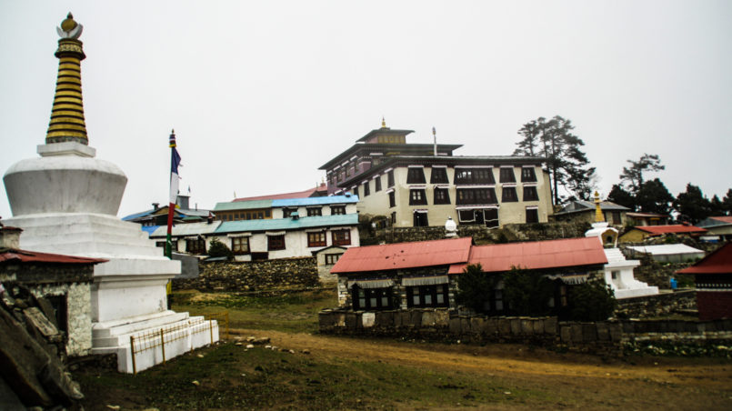 Tengboche monastery in the afternoon