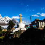 Tengboche monastery in the morning