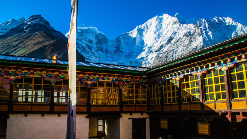 Das Tengboche Kloster am Morgen