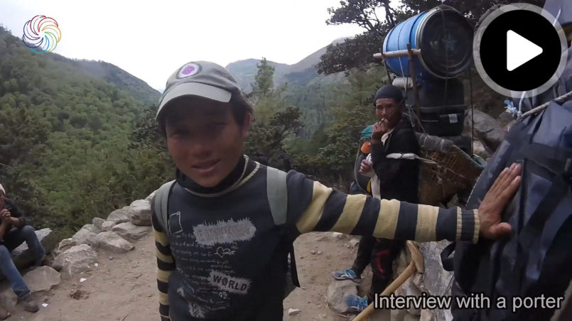 Interview with a porter on the way to Everest Base Camp (EBC) part 1