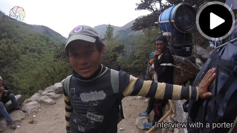 Erstes Interview mit einem Sherpa auf dem Weg zum Everest Basislager