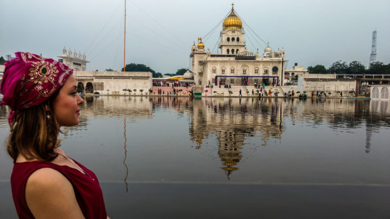 Lake at Gurudwara Bangla Sahib, Sikh Temple