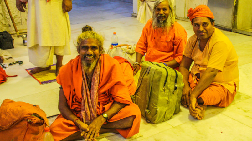 Babaji's, so called monks, in Hindu Temple I