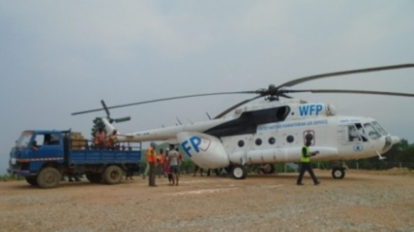 Das Erste-Hilfe-Lager und der Hubschrauberlandeplatz