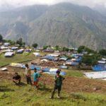 Dörfer nach dem Erdbeben in Nepalese