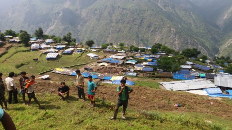 The villages looked like this after the earthquake in Nepal.