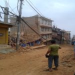 Some of destroyed houses by earthquake and headquarter of Sindupalchok district (Chautara).