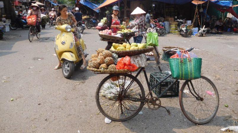 bicycle with fruits
