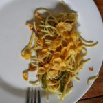 Unique breakfast experience : noodles with cornflakes