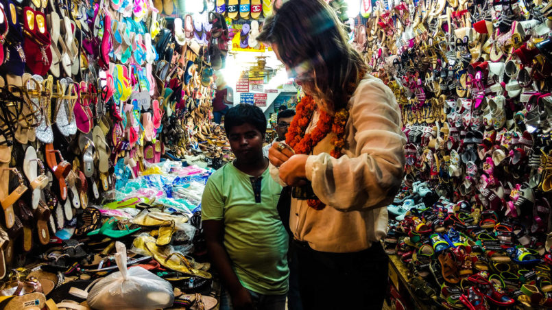 Shoe Bazaar in Old Delhi