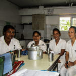 Team of nurses during tea break