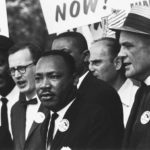 Civil Rights March on Washington, D.C. (Dr. Martin Luther King, Jr. and Mathew Ahmann in a crowd.) - NARA - 542015 - Restoration.