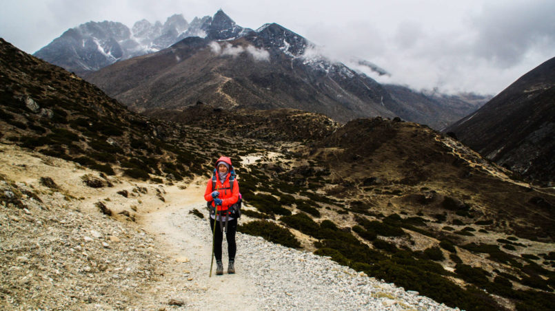 On the way to Dingboche 1
