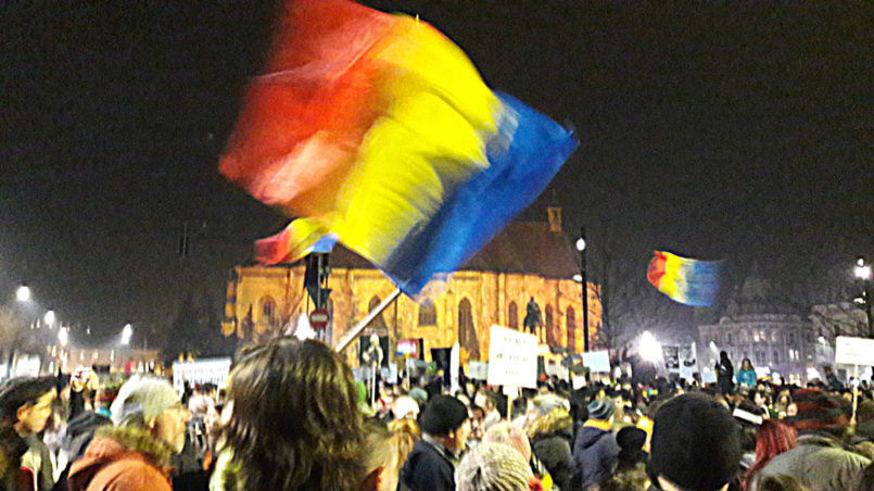 Protest night 02 in Cluj-Napoca, February 2017