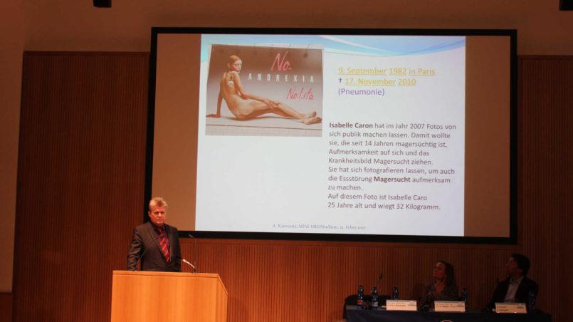 Prof. Karwautz about Isabelle Caro