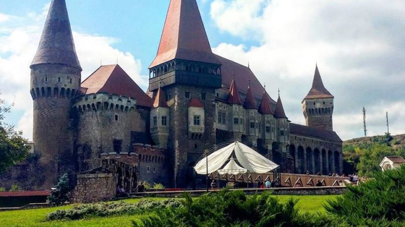 Corvin Castle, Hunedoara, Rumänien, Juli 2015