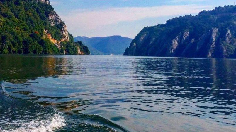 Die Donau, Orsava, Rumänien, Juli 2015