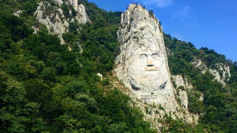 Rock sculpture of Decebalus, Orsova, Romania, July 2015