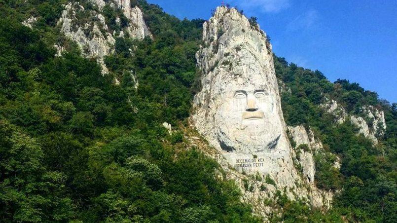 Felsskulptur des Decebalus, Orsova, Rumänien, Juli 2015