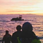 Ankunft am frühen Morgen an der Südküste von Lesbos.