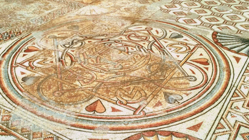 Mosaic Floor in Hisham Palace