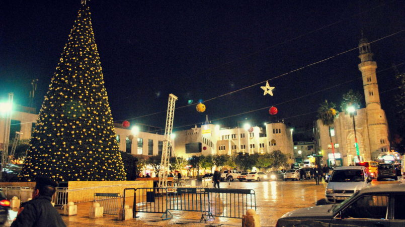Manger Square in Bethlehem City