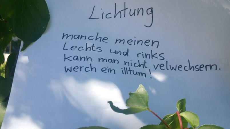 Lichtung by Ernst Jandl