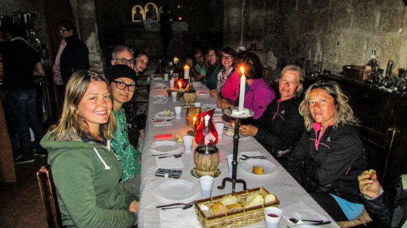 Abendessen für Pilger