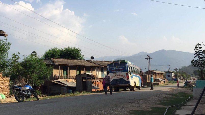 Kudu, der Ort, von dem ich den Bus nach Jarakot nehmen konnte.