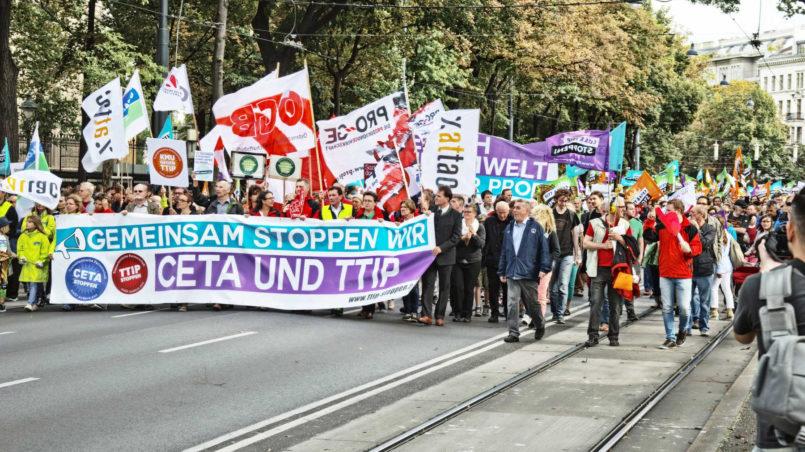 Demo gegen TTIP & CETA in Wien