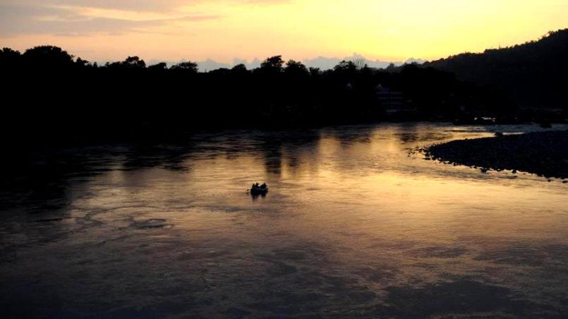 Lernen und leben in Indien - Sonnenuntergang