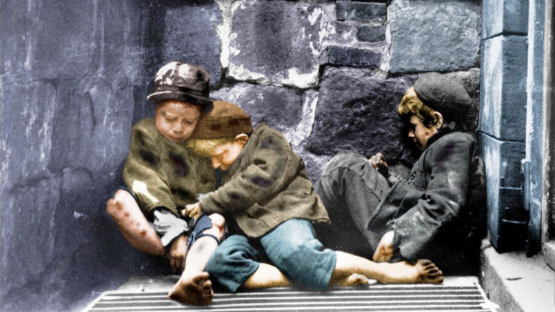 Children Sleeping in Mulberry Street